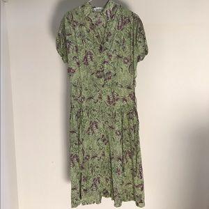 Vintage 40's/50's Jane Evans Paisley Frock Dress
